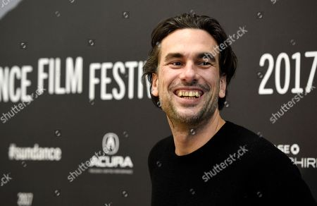 "Alexandre Moors, director of ""The Yellow Birds,"" poses at the premiere of the film at Eccles Theatre during the 2017 Sundance Film Festival, in Salt Lake City"