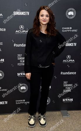"""Kathryn Prescott, a cast member in """"To the Bone,"""" poses at the premiere of the film at the Eccles Theatre during the 2017 Sundance Film Festival, in Park City, Utah"""
