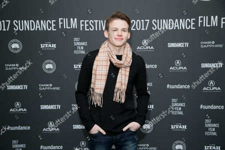 "Actor Josh Wiggins poses at the premiere of ""Walking Out"" during the 2017 Sundance Film Festival, in Park City, Utah"