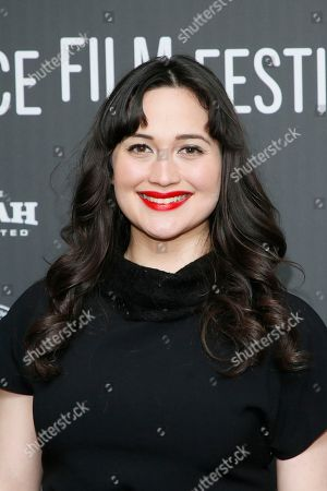 """Actress Lily Gladstone poses at the premiere of """"Walking Out"""" during the 2017 Sundance Film Festival, in Park City, Utah"""