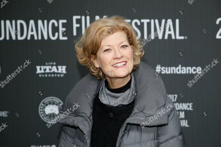 """Actress Dana Wheeler-Nicholson poses at the premiere of """"Walking Out"""" during the 2017 Sundance Film Festival, in Park City, Utah"""