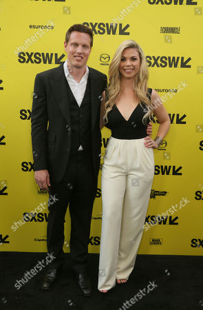 """Producer David Ellison and his wife, Sandra Lynn Modic, arrive for the world premiere of """"Life"""" at the ZACK Theatre during the South by Southwest Film Festival, in Austin, Texas"""