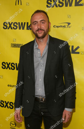 """Producer Nicolas Gonda arrives at the world premiere of """"Song to Song"""" at the Paramount Theatre during the South by Southwest Film Festival, in Austin, Texas"""