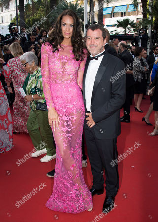 Jade Foret and Arnaud Lagardere pose for photographers upon arrival at the screening of the film The Beguiled at the 70th international film festival, Cannes, southern France