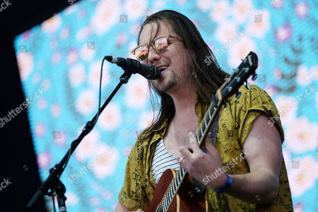 Josiah Johnson from the band The Head and the Heart performs on day two of the Governors Ball Music Festival, in New York