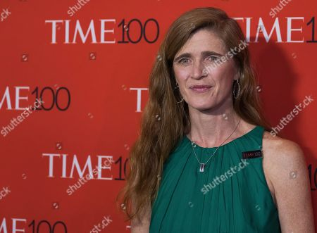 Samantha Power attends the TIME 100 Gala, celebrating the 100 most influential people in the world, at Frederick P. Rose Hall, Jazz at Lincoln Center, in New York