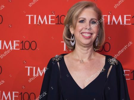 Stock Image of Nancy Gibbs attends the TIME 100 Gala, celebrating the 100 most influential people in the world, at Frederick P. Rose Hall, Jazz at Lincoln Center, in New York