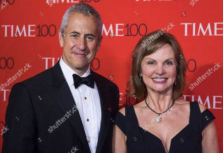 Audrey Meyer, right, and Danny Meyer attend the TIME 100 Gala, celebrating the 100 most influential people in the world, at Frederick P. Rose Hall, Jazz at Lincoln Center, in New York