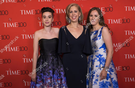 Sharla May, left, Nancy Gibbs, and Galen May attend the TIME 100 Gala, celebrating the 100 most influential people in the world, at Frederick P. Rose Hall, Jazz at Lincoln Center, in New York