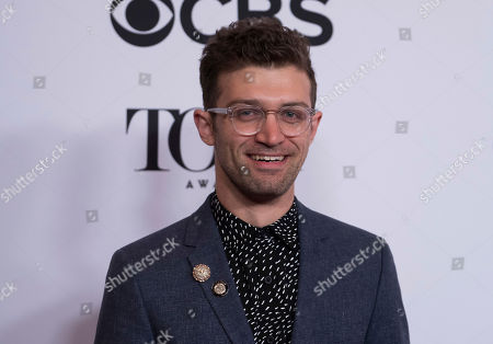 Sam Pinkleton participates in the 2017 Tony Awards Meet the Nominees press day at the Sofitel New York hotel, in New York