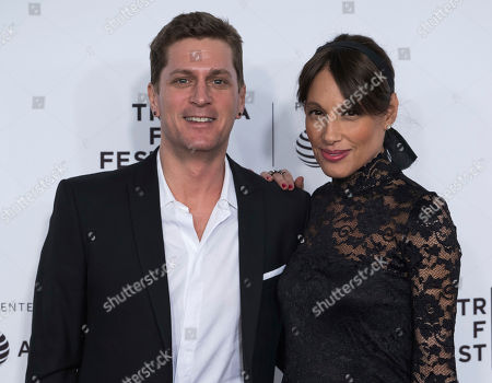 """Rob Thomas and Marisol Maldonado attend the world premiere of """"Clive Davis: The Soundtrack of Our Lives"""" at Radio City Music Hall, during the 2017 Tribeca Film Festival, in New York"""