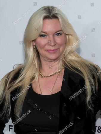 """Jackie Siegel attends the world premiere of """"Clive Davis: The Soundtrack of Our Lives"""" at Radio City Music Hall, during the 2017 Tribeca Film Festival, in New York"""