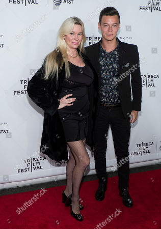 """Jackie Siegel and son David Siegel attend the world premiere of """"Clive Davis: The Soundtrack of Our Lives"""" at Radio City Music Hall, during the 2017 Tribeca Film Festival, in New York"""