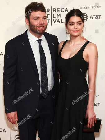 "Seth Gabel, left, and Samantha Colley, right, attend the screening of ""Genius"", during the 2017 Tribeca Film Festival, at BMCC Tribeca Performing Arts Center, in New York"