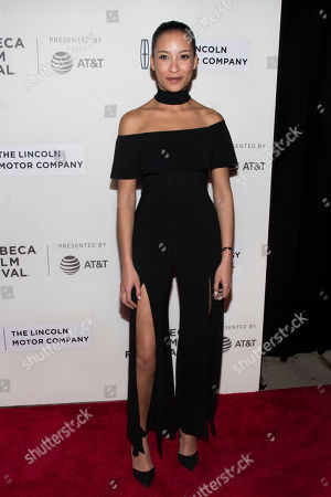 """Stock Picture of Taylor Rae Almonte attends """"The Dinner"""" premiere during the 2017 Tribeca Film Festival, in New York"""