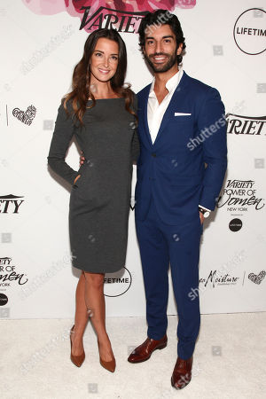 Stock Photo of Emily Foxler, left, and Justin Baldoni, right, attend Variety's Power of Women: New York Presented by Lifetime, at Cipriani Midtown, in New York