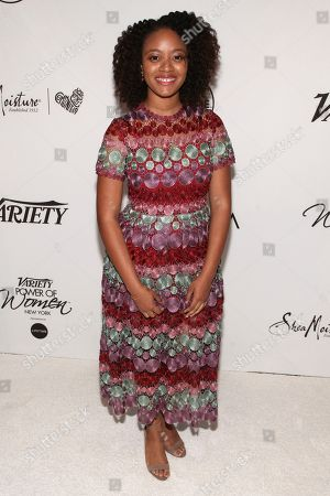 Haile Thomas attends Variety's Power of Women: New York Presented by Lifetime, at Cipriani Midtown, in New York