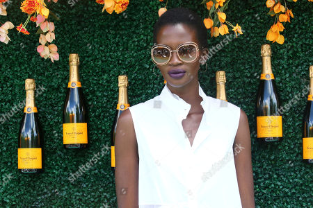 Aamito Lagum attends the Veuve Clicquot Polo Classic at Liberty State Park, in New Jersey