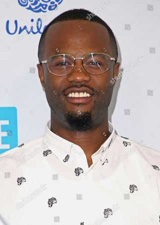 Casey Veggies arrives at WE Day California at the Forum, in Inglewood, Calif