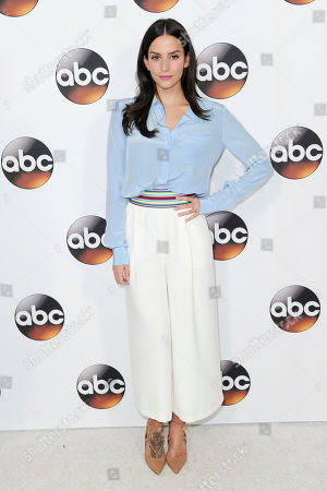 Genesis Rodriguez attends the Disney/ABC portion of the 2017 Winter Television Critics Association press tour, in Pasadena, Calif