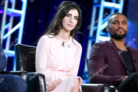 """Stock Picture of Dilan Gwen, left, and Jeff Pierre attend the """"Beyond"""" panel at the Disney/ABC portion of the 2017 Winter Television Critics Association press tour, in Pasadena, Calif"""