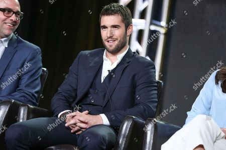 "Josh Bowman speaks at the ""Time After Time"" panel at the Disney/ABC portion of the 2017 Winter Television Critics Association press tour, in Pasadena, Calif"