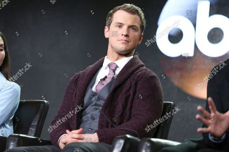 "Freddie Stroma attends the ""Time After Time"" panel at the Disney/ABC portion of the 2017 Winter Television Critics Association press tour, in Pasadena, Calif"