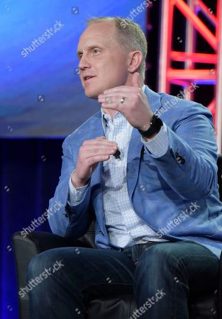 "President, COO and executive producer, Fox Sports, Eric Shanks appears at the ""FOX Sports"" panel during the FOX portion of the 2017 Winter Television Critics Association press tour, in Pasadena, Calif"