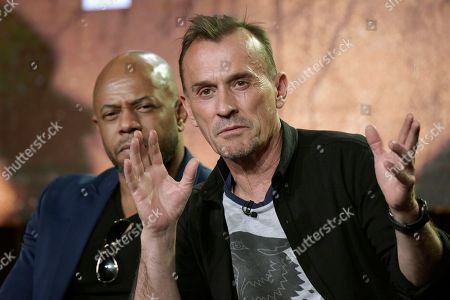 "Rockman Dunbar, left, and Robert Knepper appear at the ""Prison Break"" panel at the FOX portion of the 2017 Winter Television Critics Association press tour, in Pasadena, Calif"
