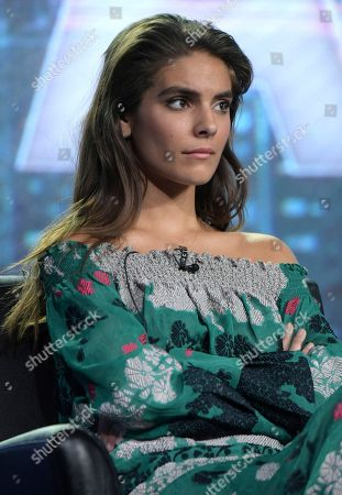 Caitlin Stasey appears at the 'APB' panel during the FOX portion of the 2017 Winter Television Critics Association press tour, in Pasadena, Calif