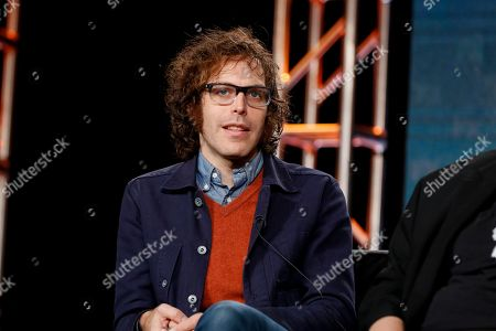 """Stock Photo of Jonathan Krisel speaks at the FX's """"Baskets"""" panel at the 2017 Television Critics Association press tour, in Pasadena, Calif"""