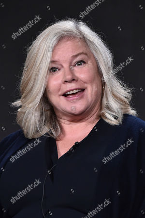 """Alison Owen attends the """"Harlots"""" panel at the Hulu portion of the 2017 Winter Television Critics Association press tour on in Pasadena, Calif"""