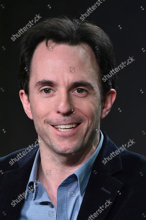 """Marc Tyler Nobleman attends the """"Batman and Bill"""" panel at the Hulu portion of the 2017 Winter Television Critics Association press tour on in Pasadena, Calif"""