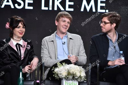"""Stock Photo of Emily Barclay, from left, Josh Thomas and Thomas Ward attend the """"Please Like Me"""" panel at the Hulu portion of the 2017 Winter Television Critics Association press tour on in Pasadena, Calif"""