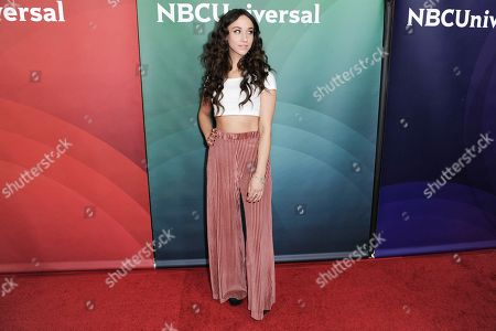 Stella Maeve attends the NBCUniversal portion of the 2017 Winter Television Critics Association press tour, in Pasadena, Calif