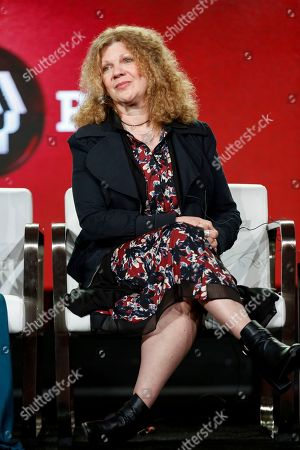 """Barbara Hall speaks at the PBS's American Masters """"Patsy Clyne"""" panel at the 2017 Television Critics Association press tour, in Pasadena, Calif"""