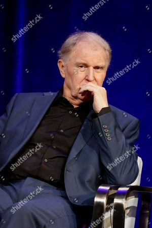 """Tim Pigott-Smith speaks at the PBS's Masterpiece series """"King Charles III"""" panel at the 2017 Television Critics Association press tour, in Pasadena, Calif"""
