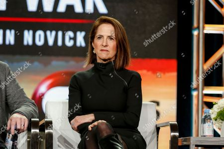 """Stock Picture of Lynn Novick speaks at the PBS's """"The Vietnam War"""" panel at the 2017 Television Critics Association press tour, in Pasadena, Calif"""
