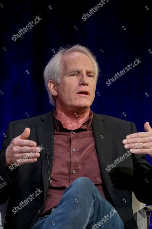 """Stock Photo of Bob Hercules speaks at the PBS's American Masters """"Maya Angelou: And Still I Rise"""" panel at the 2017 Television Critics Association press tour, in Pasadena, Calif"""