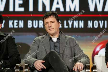 "Atticus Ross speaks at the PBS's ""The Vietnam War"" panel at the 2017 Television Critics Association press tour, in Pasadena, Calif"