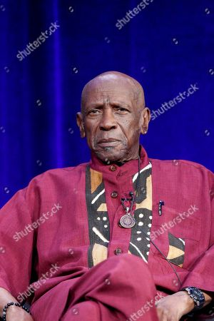 "Louis Gossett Jr. speaks at the PBS's American Masters ""Maya Angelou: And Still I Rise"" panel at the 2017 Television Critics Association press tour, in Pasadena, Calif"