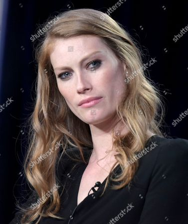 """Alyssa Sutherland attends """"The Mist"""" panel at Viacom's Spike TV portion of the Winter Television Critics Association press tour, in Pasadena, Calif"""
