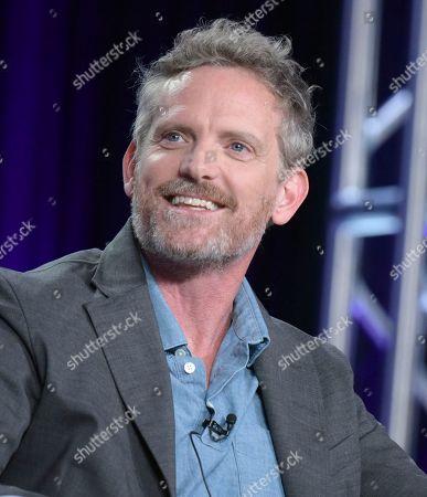 "Hugh Davidson attends the ""Nobodies"" panel at Viacom's TV Land portion of the Winter Television Critics Association press tour, in Pasadena, Calif"