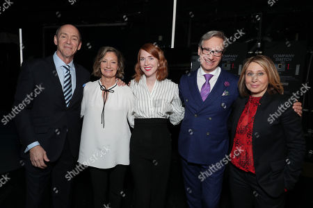 Chris Aronson, President of Domestic Distribution for 20th Century Fox, Elizabeth Gabler, President of Fox 2000, Jessie Henderson, Paul Feig and Stacey Snider, Co-Chairman of 20th Century Fox, seen at 20th Century Fox 2017 CinemaCon Presentation, in Las Vegas