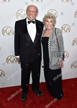 Irwin Winkler, left, and Margo Winkler arrive at the 28th Annual Producers Guild Awards at the Beverly Hilton, in Beverly Hills, Calif