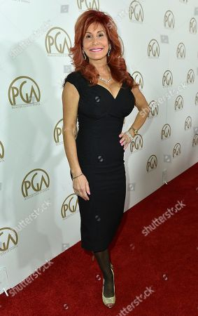 Stock Picture of Suzanne DeLaurentiis arrives at the 28th Annual Producers Guild Awards at the Beverly Hilton, in Beverly Hills, Calif