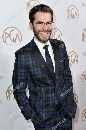 Stock Image of Peter Huyck arrives at the 28th Annual Producers Guild Awards at the Beverly Hilton, in Beverly Hills, Calif