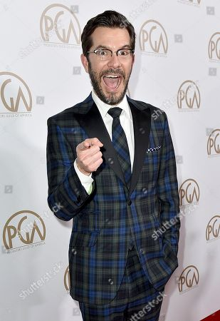 Peter Huyck arrives at the 28th Annual Producers Guild Awards at the Beverly Hilton, in Beverly Hills, Calif