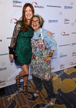 Dana Delany, left, and Susan Feniger attend the 30th annual Scleroderma Foundation Benefit at the Beverly Wilshire hotel, in Beverly Hills, Calif