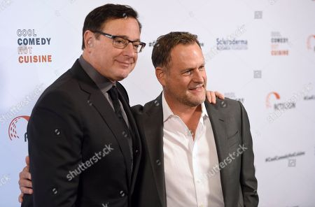 Bob Saget, left, and Dave Coulier attend the 30th annual Scleroderma Foundation Benefit at the Beverly Wilshire hotel, in Beverly Hills, Calif